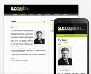 Mobile Site for Succession