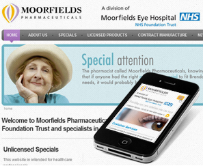 Mobile Site for Moorfields